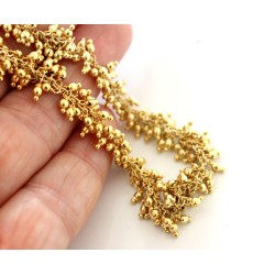 Chain Gold Color round beads 2mm, Gold Plated