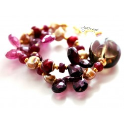 Tourmaline and Garnet Bracelet