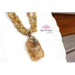 Amber and Quart Necklace