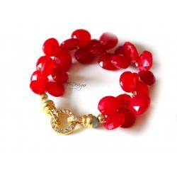 Red Chalcedony Bracelet