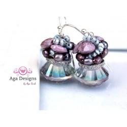 Druzy and Aquamarine Earrings