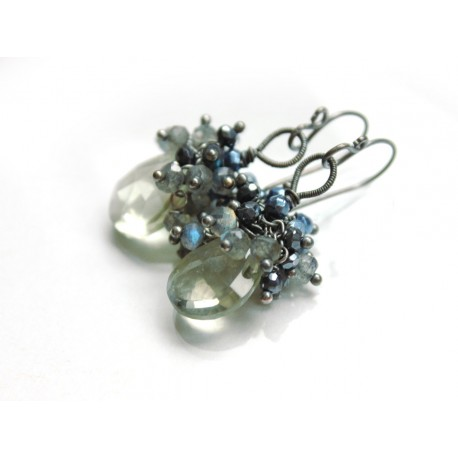 Cluster Earrings with Head Pins Tutorial