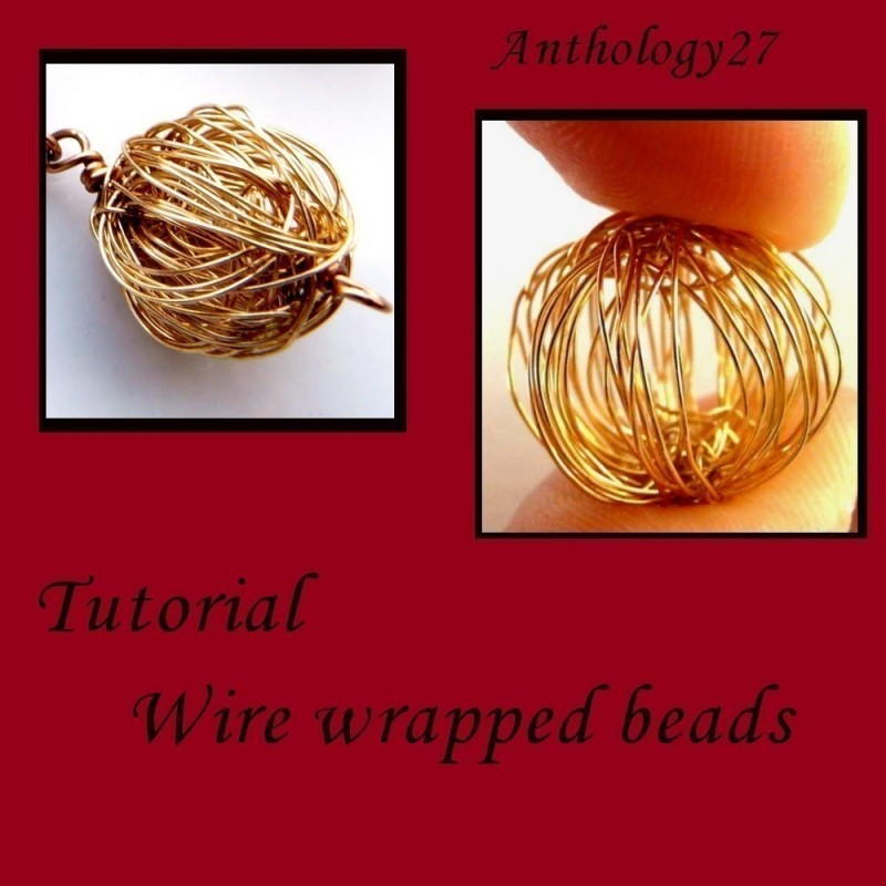 Wire Wrapped Beads Tutorial