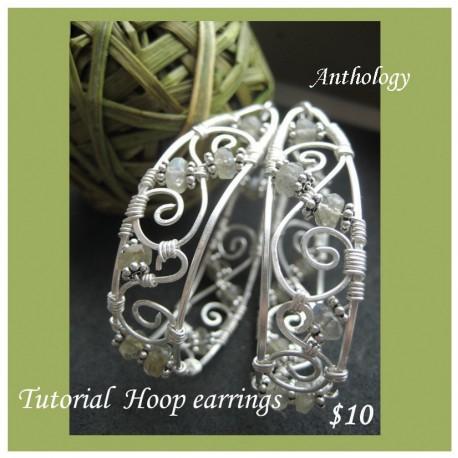 Hoop Earrings with Stones Tutorial