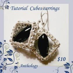 Cubes Earrings Tutorial