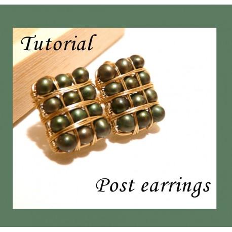 Post Earrings Tutorial