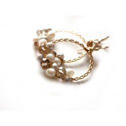 Hoops with Crystals and Pearls Tutorial