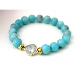 Crystal and Amazonite Bracelet
