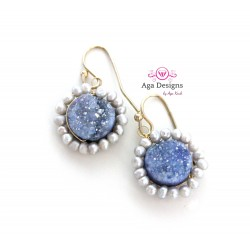 Scilla Earrings with Druzy