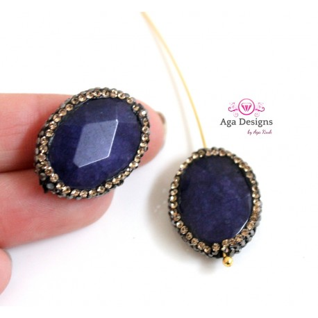 Navy Blue faceted Sodolite stone