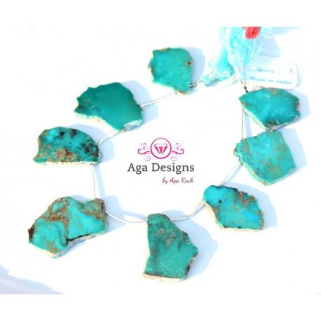 Turquoise stones set of 8 pcs