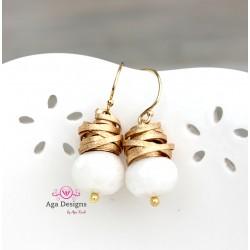 Amelia Earrings in white