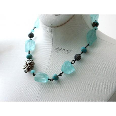 Sea Quartz Necklace