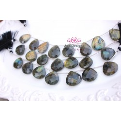 BIG Labradorite briolettes 24mmx23mm
