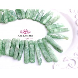 Green Kyanite teeth 50-20mm x 7-10mm
