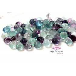 Fluorite drops 9mmx11mm smooth
