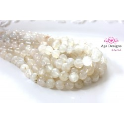 Moonstone white stones 8mm round