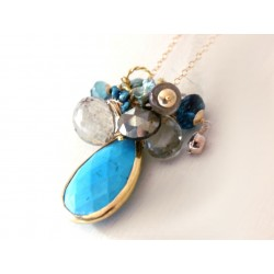 Blue Sea Charm Necklace