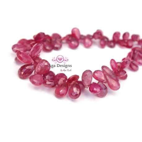 Pink Sapphire briolettes ONLY ONE 8-10mm x 5-7mm