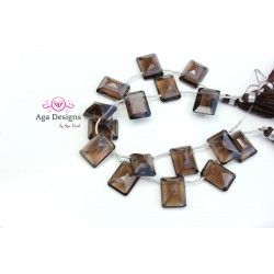 Smoky Quartz 12mmx16mm - NEW shape