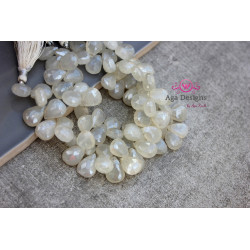 Pearl Chalcedony briolettes 15mm x 10mm