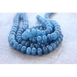 Blue Jade rondelles stones 6mmx10mm