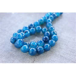 NEW Blue Agate Faceted round 10mm
