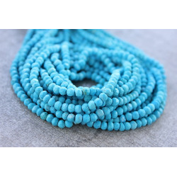 Turquoise Faceted rondelles 3-4mm