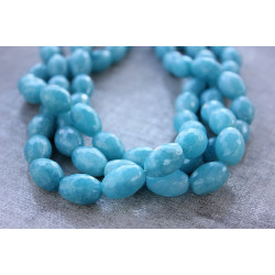 Big Aqua Agate oval stones 12x17mm