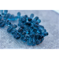 AAA London Blue Topaz Stones tear drop shape 4-5mmx7-9mm