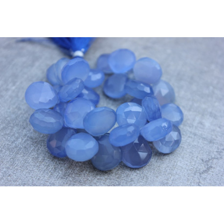 Navy blue Chalcedony stones briolettes 11-15mm x 11-15mm