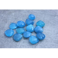 Sky Chalcedony stones briolettes 11-15mm x 11-15mm