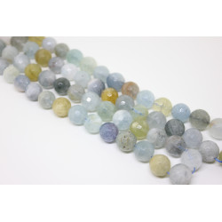 Flower Aquamarine 10 mm faceted
