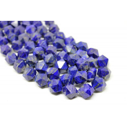 Lapis Lazuli 12 mm faceted - diamond cut