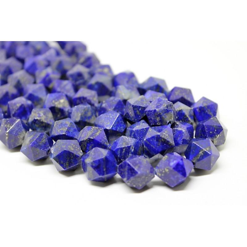 Lapis Lazuli 12 Mm Faceted Diamond Cut