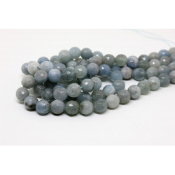 Aquamarine round faceted 8 mm