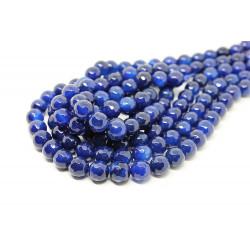 Blue Agate round faceted 8 mm