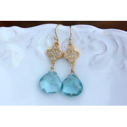Pink Quartz Stone earrings