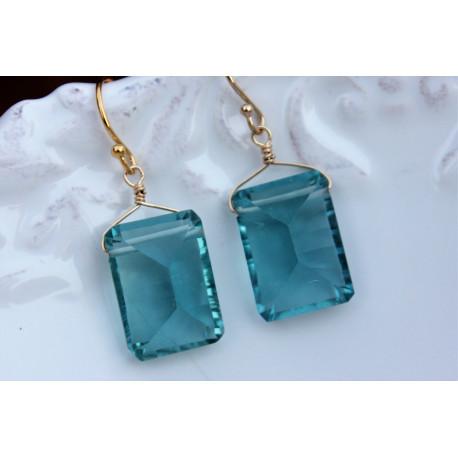 Aquamarine Stone earrings