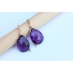 Dark Amethyst Stone earrings