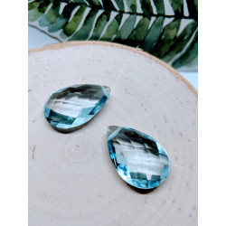 Aquamarine Quartz Briolettes 23mmx16mm