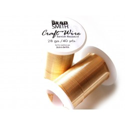 Craft wire 28 gauge gold