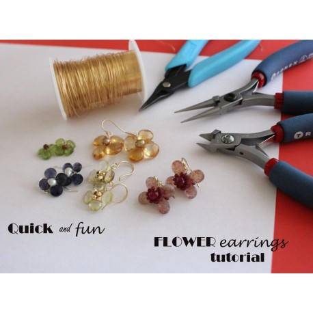 Flower Earrings Tutorial