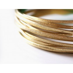 Brass texture wire - dust pattern 14 gauge