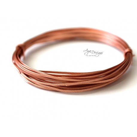 Copper texture wire - 14 gauge
