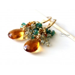 Topaz Quartz Earrings