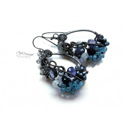 Topaz and Aquamarine Earrings