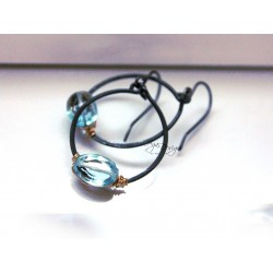 Swiss Topaz Hoops Earrings