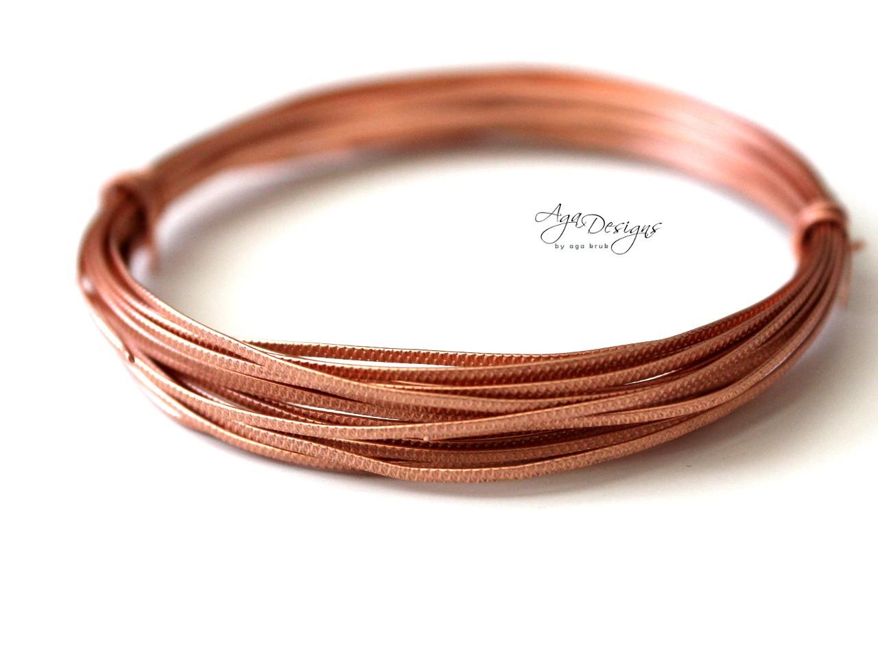 Copper Texture Wire - 20 gauge