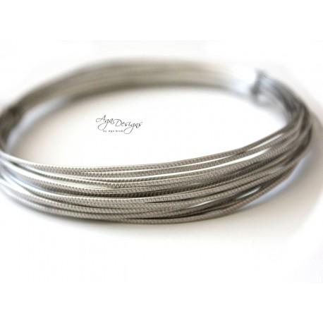 Silver Texture Wire - 20 gauge